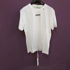 Off-White Men Back Printed Logo White T-Shirt M